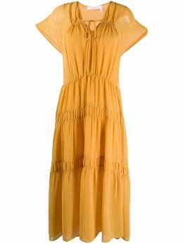 See By Chloe ярусное платье со сборками CHS20URO07025