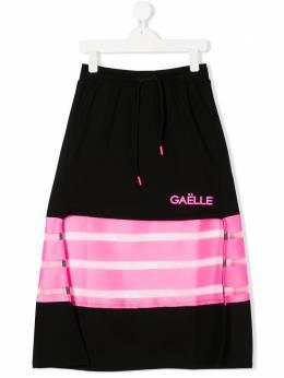 Gaelle Paris Kids юбка с контрастными полосками 2746G0117