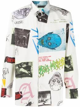 Aries рубашка с принтом и заостренным воротником SQAR40107