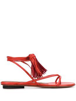 L'Autre Chose сандалии с завязками на щиколотке и кисточками OSL13905CC2615