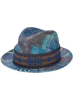 Etro шляпа-федора с принтом пейсли 1T8339333