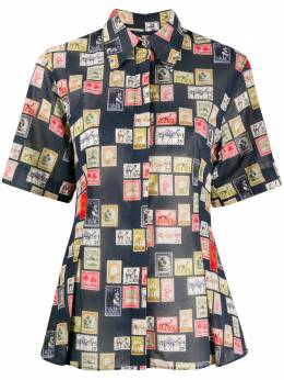 Victoria, Victoria Beckham приталенная рубашка с принтом 2220WSH000953E