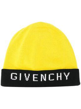 Givenchy шапка бини в стиле колор-блок с логотипом GVCAPPU1722