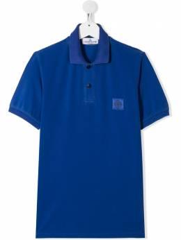 Stone Island Junior рубашка-поло с нашивкой-логотипом MO721620949