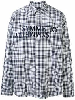 Juun.J клетчатая рубашка с вышивкой Symmetry JC0364P12R