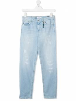 Dondup Kids джинсы с эффектом потертости BP215DF0232BBD800