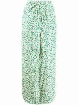 Ganni длинная юбка с цветочным принтом F4489
