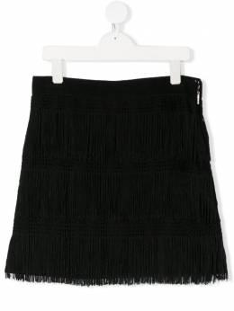 Alberta Ferretti Kids юбка с бахромой 022176