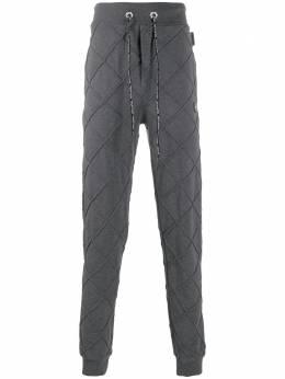 Philipp Plein спортивные брюки с узором Lozenge F19CMJT1163PJO002N