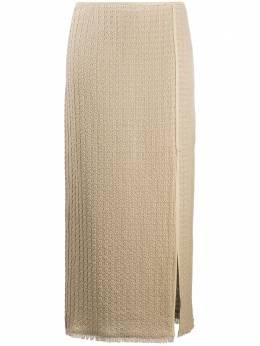 Nanushka фактурная юбка с запахом MOJATAUPERUSTICWEAVE