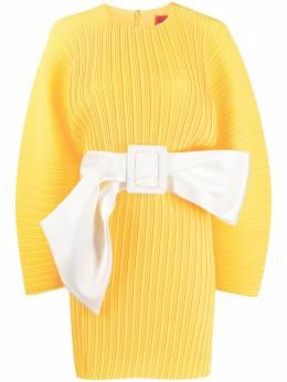 Solace London плиссированное платье с длинными рукавами OS26074
