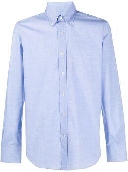Canali однотонная рубашка на пуговицах LX19GL00915