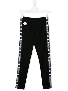 Dsquared2 Kids спортивные брюки с логотипами на лампасах DQ043GD00X4T