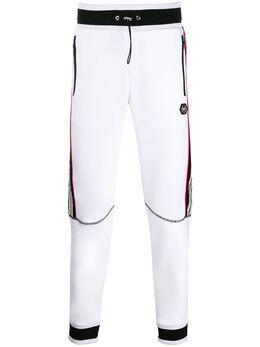 Philipp Plein спортивные брюки с полосками и логотипом A19CMJT1415PJO002N