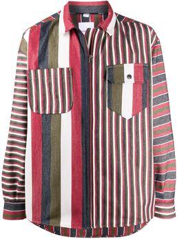 Napa By Martine Rose полосатая рубашка на молнии NA4EDP45S