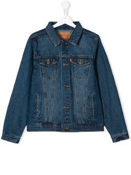 Levi's Kids джинсовая куртка с эффектом потертости 9E2058