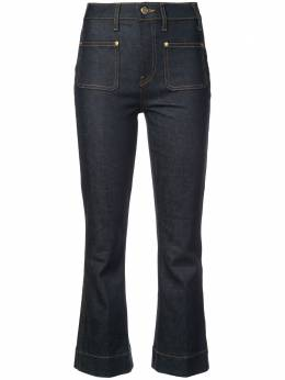 Khaite укороченные слегка расклешенные джинсы 1030007W901