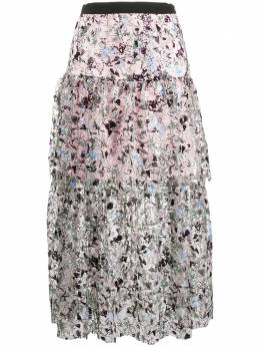 Self-Portrait юбка с пайетками и оборками SS20029M