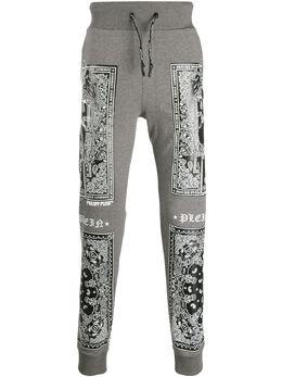 Philipp Plein спортивные брюки с принтом пейсли A19CMJT1394PJO002N