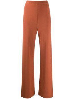 Nanushka брюки прямого кроя с завышенной талией TATUMLANGOUSTINORIBKNIT