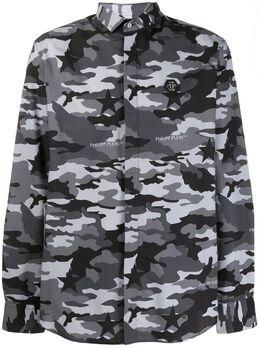 Philipp Plein рубашка с камуфляжным принтом A19CMRP1091PTE012N