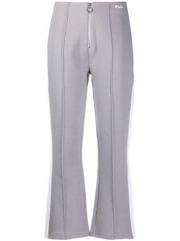 Fila укороченные спортивные брюки с молнией спереди 687721