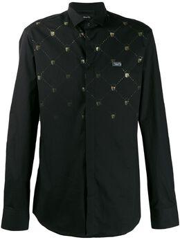 Philipp Plein рубашка с принтом Skull F19CMRP0975PTE012N