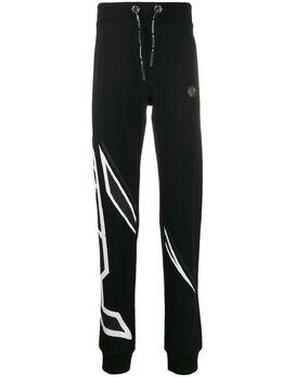 Philipp Plein спортивные брюки с логотипом A19CMJT1467PJO002N