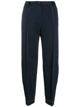 Eckhaus Latta зауженные брюки с контрастной строчкой 753EL