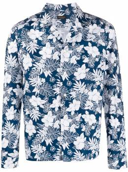 Dell'oglio рубашка с цветочным принтом BG020B6UR508