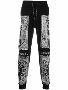 Philipp Plein спортивные брюки с узором пейсли A19CMJT1394PJO002N