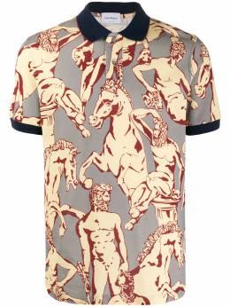 Salvatore Ferragamo Fountain of Neptune polo shirt 728947