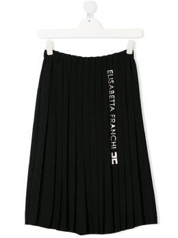 Elisabetta Franchi La Mia Bambina плиссированная юбка миди EFGO66GA35VE010