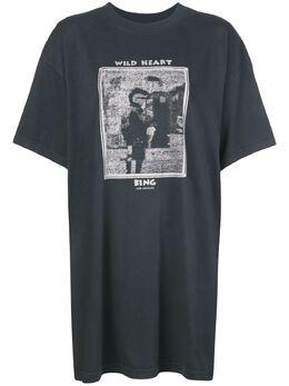 Anine Bing платье-футболка Harley Mohawk A024007009
