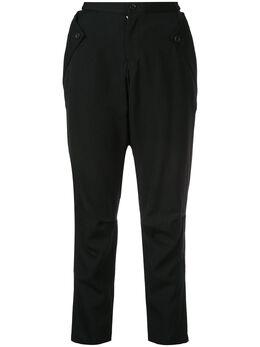 Yohji Yamamoto суженные книзу брюки кроя слим FVP04101