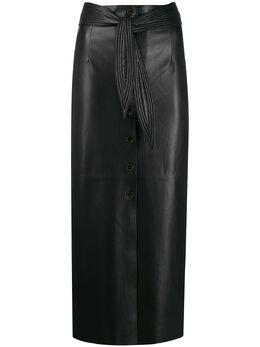 Nanushka юбка с завышенной талией и поясом WSK00063101