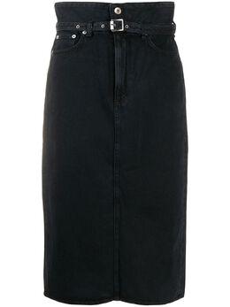 Rag&Bone джинсовая юбка с присборенной талией WDD20S1B07K3BB