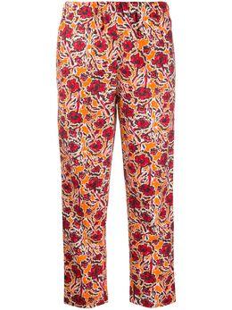 Marni брюки прямого кроя с цветочным принтом PAMAO14A02TCY78