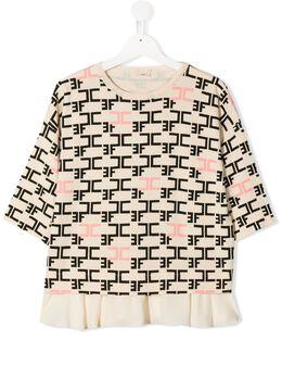 Elisabetta Franchi La Mia Bambina блузка с логотипом EFMA53FL157VE058