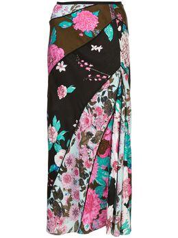Dvf Diane Von Furstenberg жаккардовая юбка миди Mariel 14587DVF