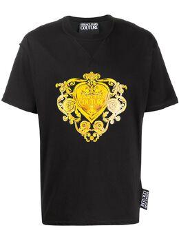 Versace Jeans Couture brocade print T-shirt B3GVB7EA30311