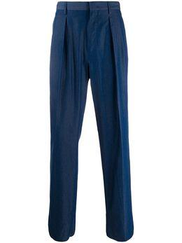Valentino брюки прямого кроя со складками TV0RGB3066U