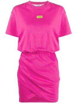 GCDS платье-футболка с нашивкой-логотипом SS20W020085