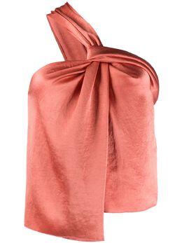 Nanushka атласная блузка на одно плечо MANONLANGOUSTINOWASHEDSATIN