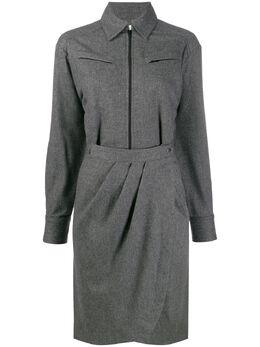 Ba&sh саржевое платье-рубашка Corina 1H19CORI