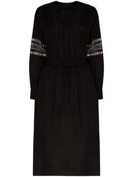 Low Classic платье с кружевными вставками LOW20SSDR06BK