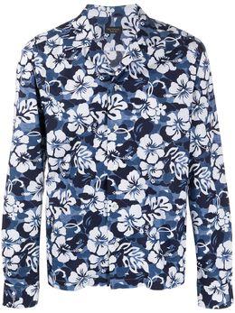 Dell'oglio рубашка с цветочным принтом BG020B6UI501