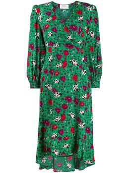 Ba&sh платье миди с цветочным принтом 1H19PALO