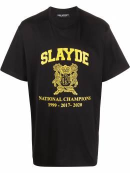 Neil Barrett футболка Slayde с принтом BJT716SN510P
