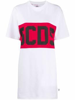 GCDS платье-футболка с логотипом CC94W021011